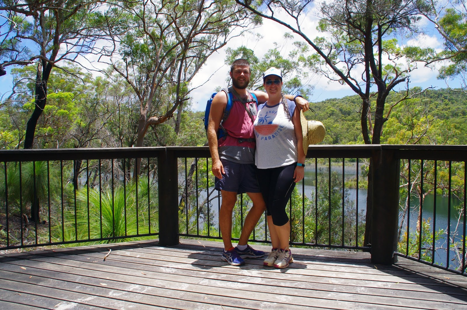 Couple at lookout on Stradbroke Island