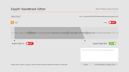 ZAPPITI SOUNDTRACK EDITOR - Archus.si Blog