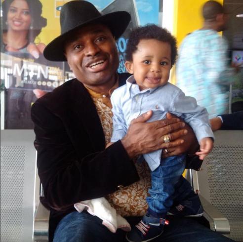 Nollywood Actor Kenneth Okonkwo shares adorable photos with his son