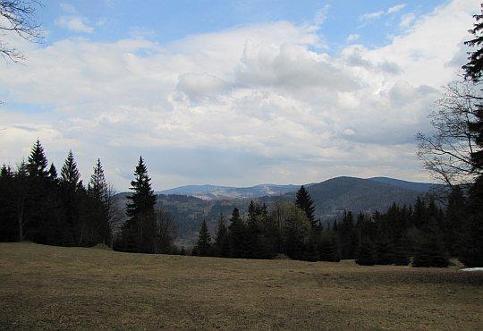 Widok z polany podszczytowej Beskidu Korbielowskiego