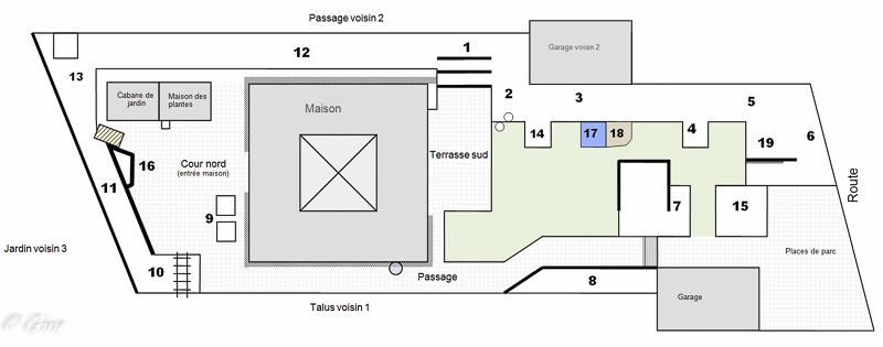 au jardin de gine plan du jardin. Black Bedroom Furniture Sets. Home Design Ideas