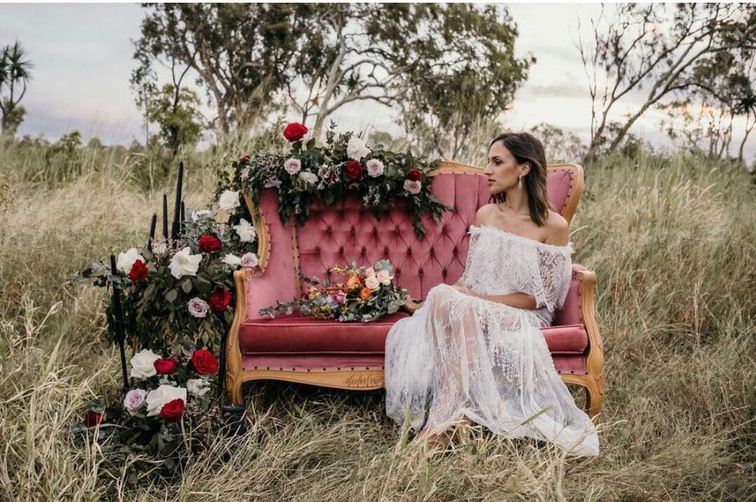 nowak photography bridal gown wedding style florals