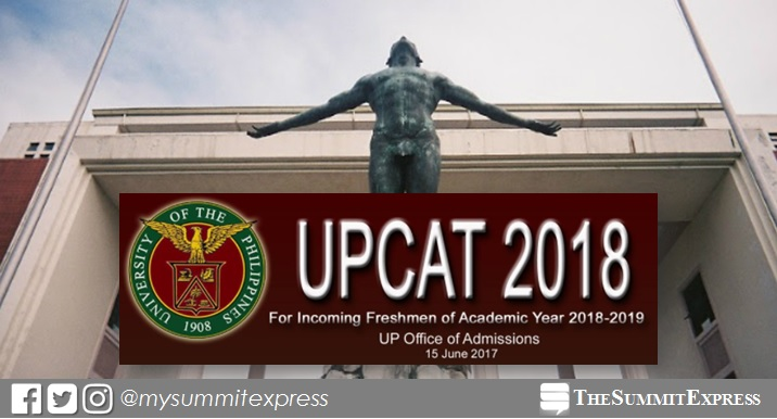 UPCAT 2018 schedule, deadline of filing announced