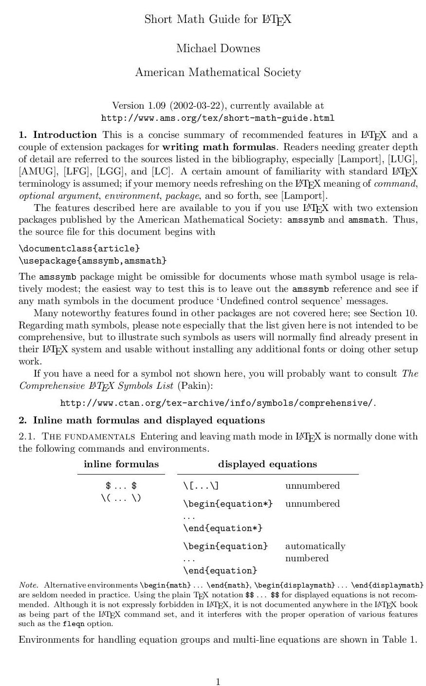 Computer Inquisitive: LaTeX : Part - 1 : Some Mathematical