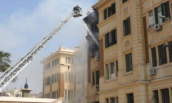 اخبار حريق مبنى محافظة القاهرة وتعرف على اهم التفاصيل التى تسببت فى الحريق