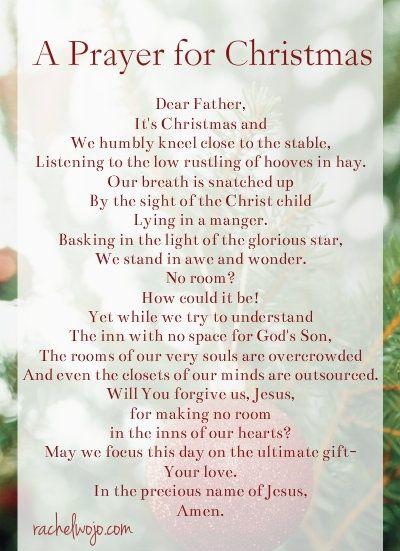 prayer of christmas