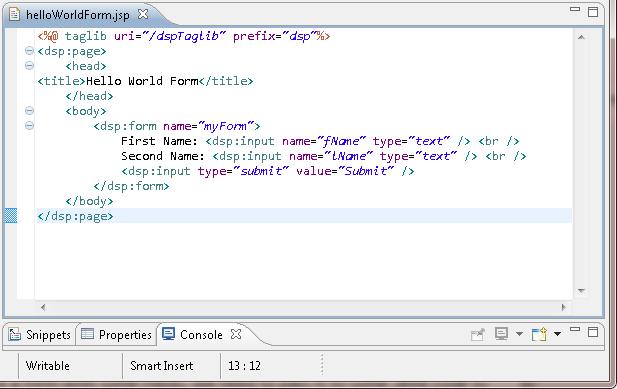 writing custom formhandler in atg