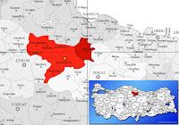 Taşova ilçesinin nerede olduğunu gösteren harita