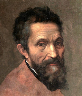 Michelangelo Buonarotti: a detail from Daniele da Volterra's portrait, painted in about 1544
