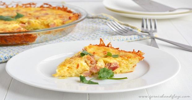 Cheesy Hash Brown Quiche Recipe