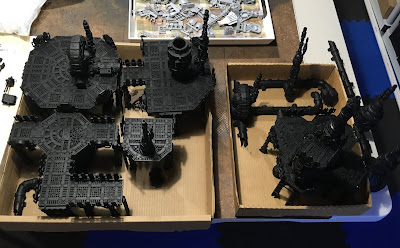 Sector Mechanicus Terrain WIP Primed
