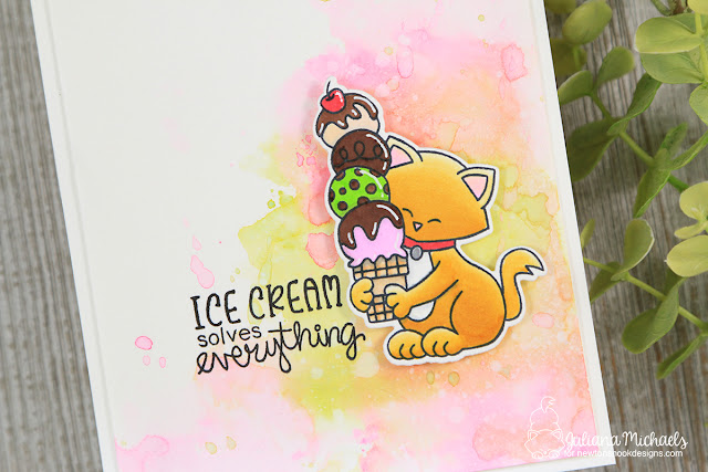 Ice Cream Solves Everything Card by Juliana Michaels featuring Newton's Nook Designs Newton's Summer Treats Stamp Set