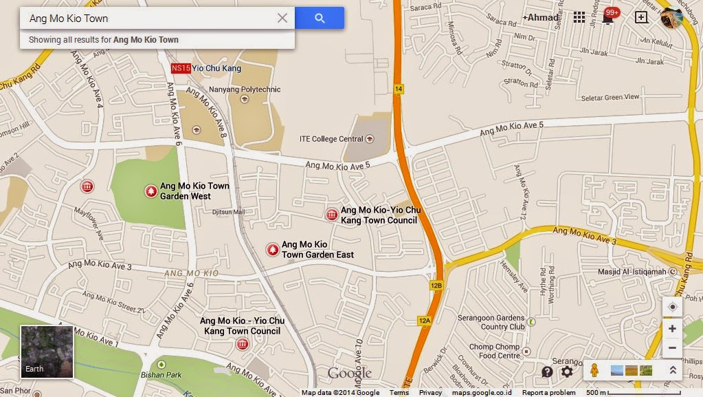 Ang Mo Kio Town Singapore Map Tourist Attractions in Singapore