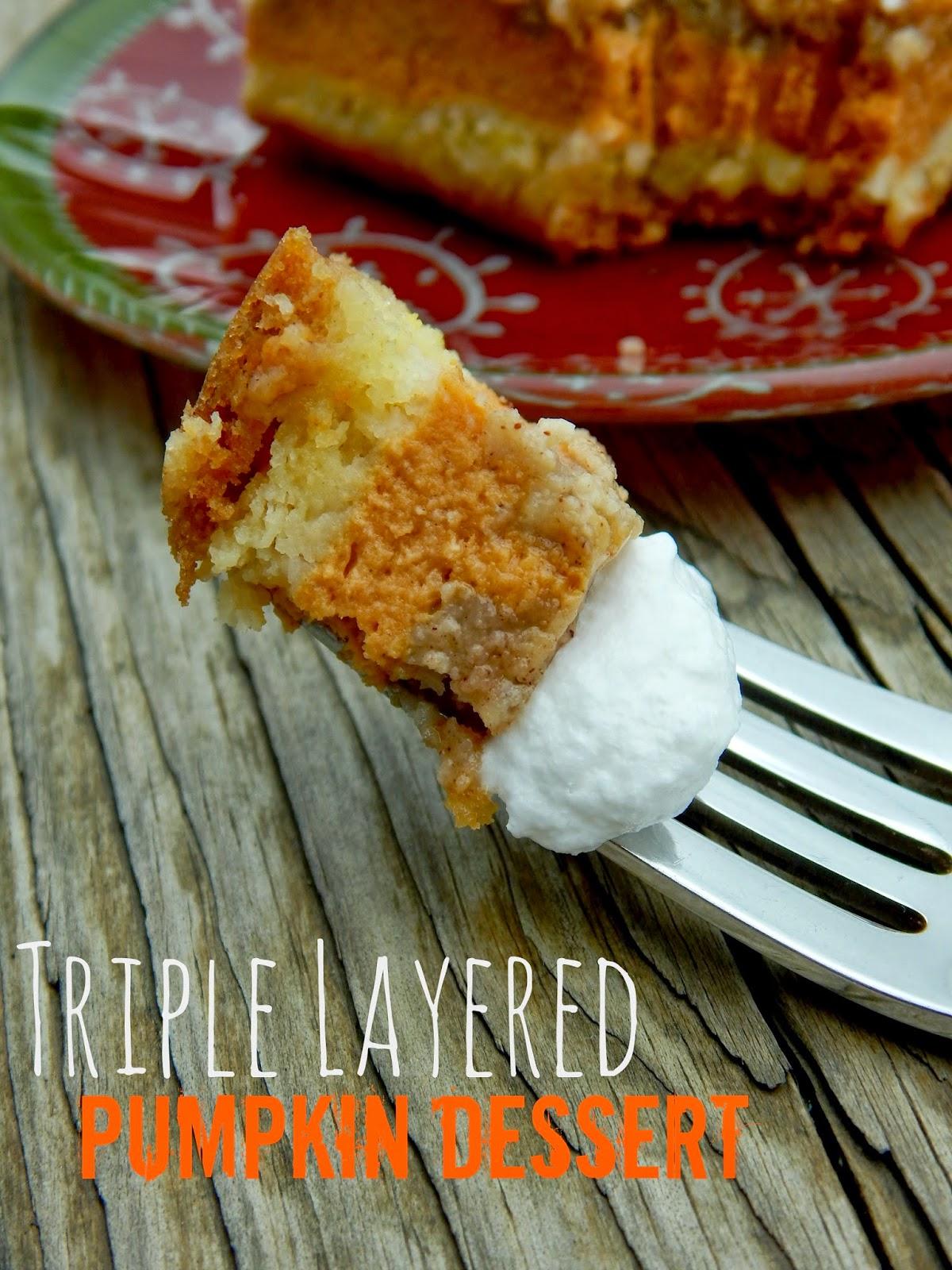 triple layered pumpkin dessert (sweetandsavoryfood.com)