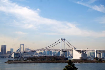 Rainbow Bridge in Odaiba Japan