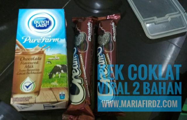 Kek Coklat Viral 2 Bahan