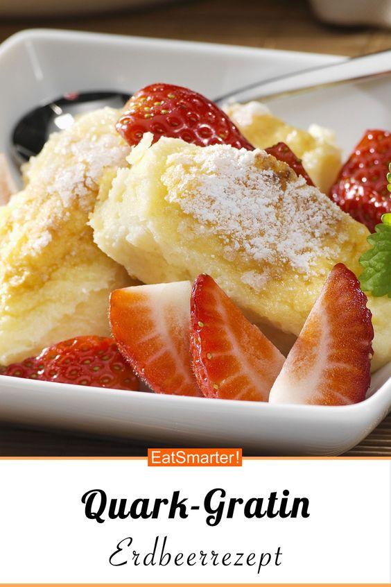 Quark-Gratin mit Erdbeeren - smarter - Kalorien: 406 kcal - Zeit: 1 Std. | eatsmarter.de #dessert #erdbeeren #gratin #quark
