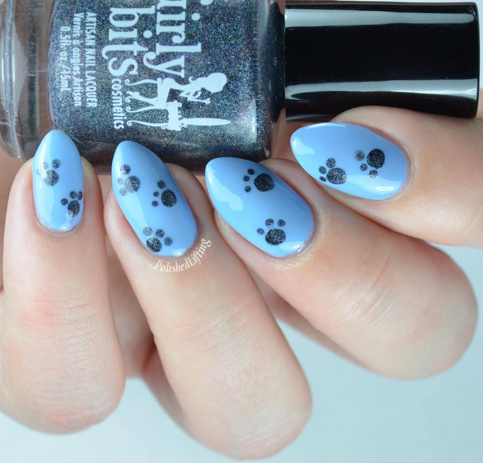 Polished Lifting: Twin Paw Print Nail Art with Nichole of Bedlam Beauty