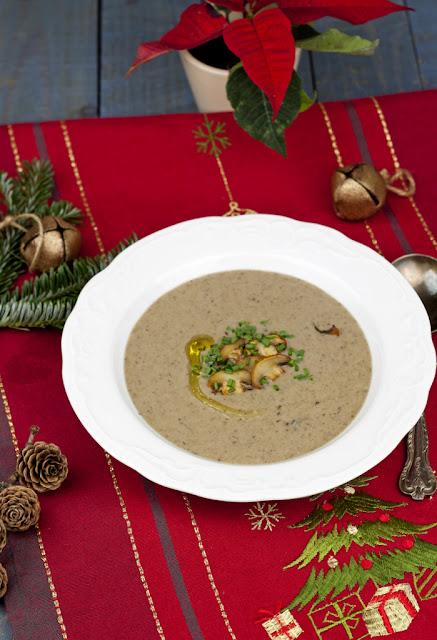 zupa grzybowa z kasztanami