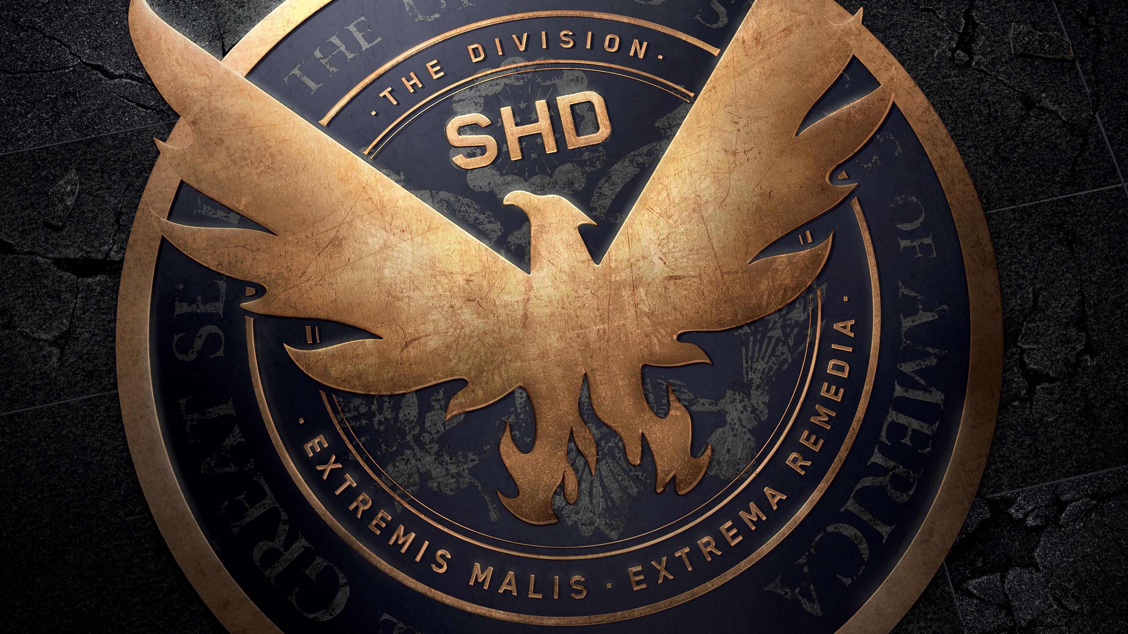 The Division 2 Shd Logo 4k Wallpaper 3