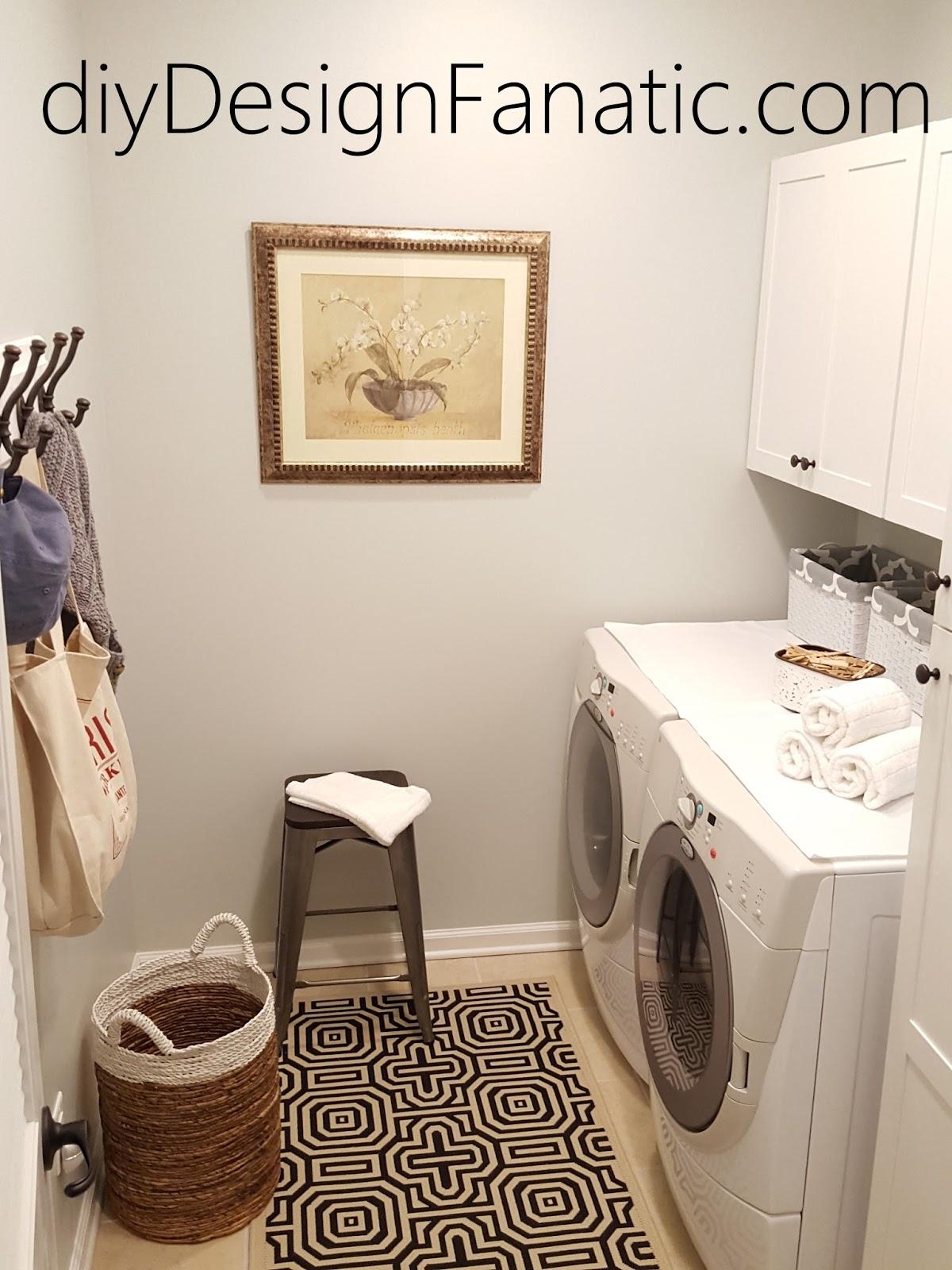 diy design fanatic zhushing up a corner of the laundry room