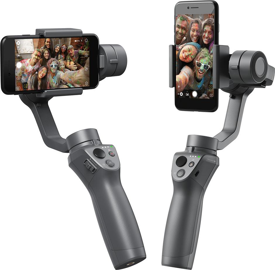 Вертикальное и горизонтальное положение смартфона на DJI Osmo Mobile 2