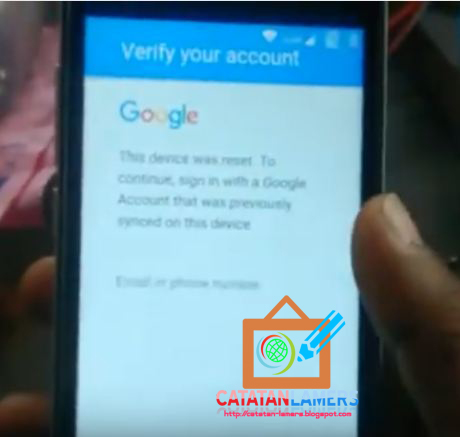 Bypass Factory Reset Verification Frp Google Verification Pada