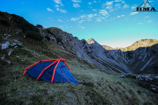 wandern Allgäu Zelt für 2 Personen The Wedge von Heimplanet - BMA Best Mountain Artists