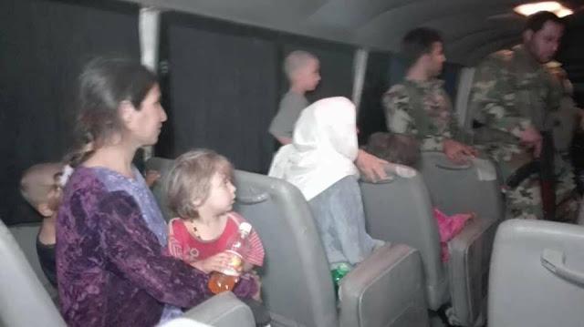 الافراج عن 6 من مختطفي السويداء لدى تنظيم داعش الارهابي.(صور)