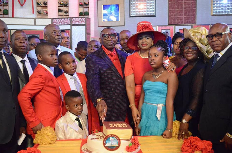 "Pastor Oritsejafor cuts ""Holy Bible"" cake as he marks birthday"