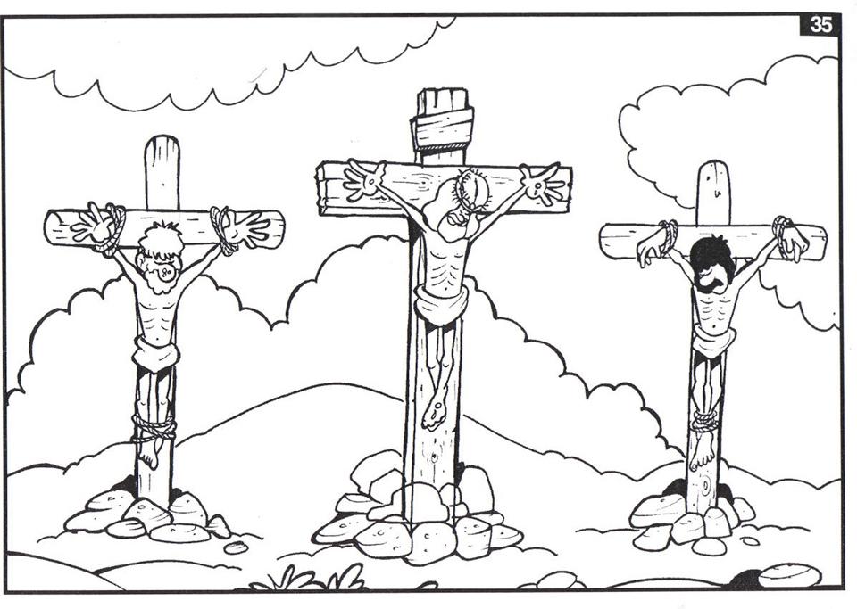 Compartiendo por amor: Jesús clavado en la cruz