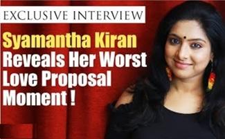 Syamantha Kiran Reveals Her Worst Love Proposal Moment!   Syamantha Kiran   Saravanan Meenatchi