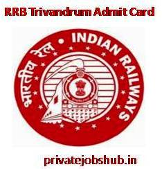 RRB Trivandrum Admit Card