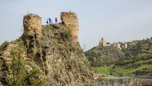 View from Narikala towards the Ruins