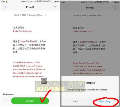 Cara Merubah Warna Huruf Menjadi Warna - Warni di MIUI Xiaomi