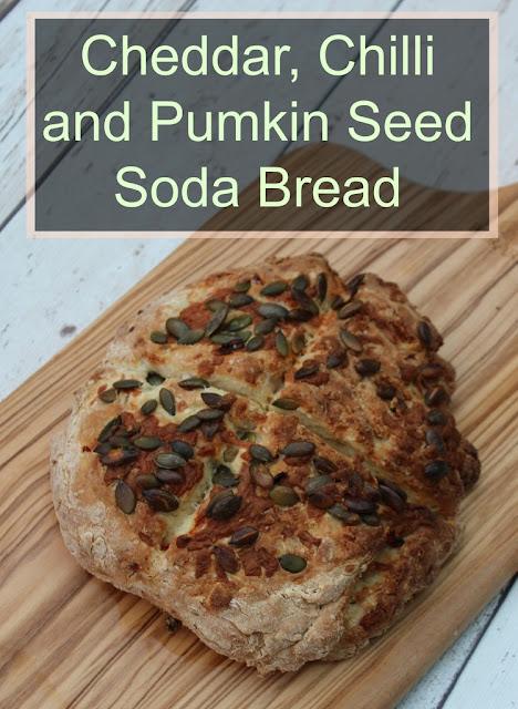 cheddar chilli and pumpkin seed soda bread