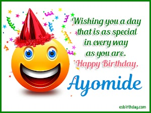 Happy Birthday Ayomide