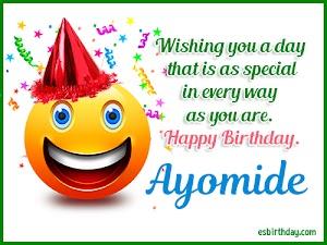 Happy Birthday Ayomide