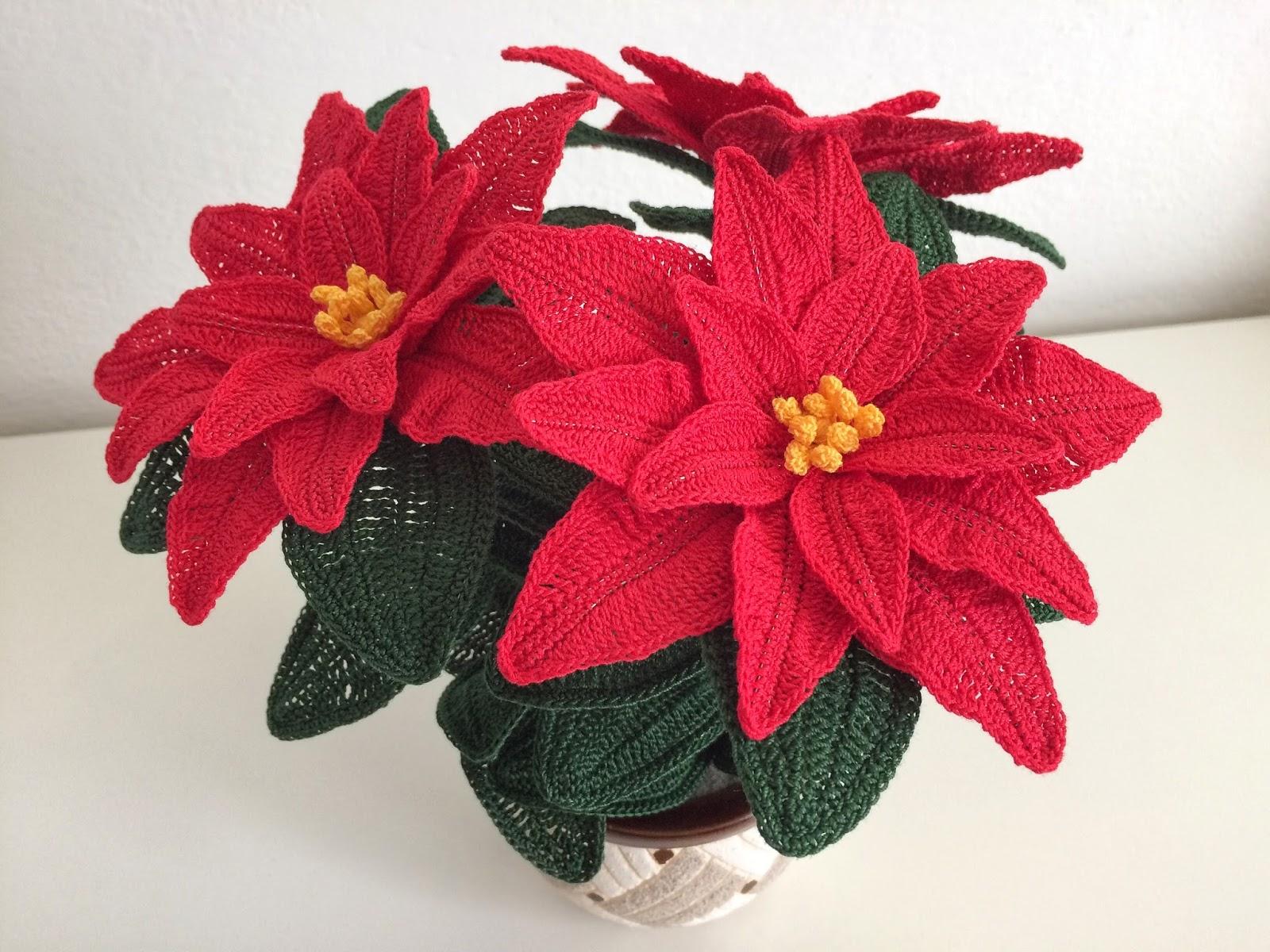 Stelle Di Natale Da Costruire il blog di sam: spiegazione della stella di natale all'uncinetto