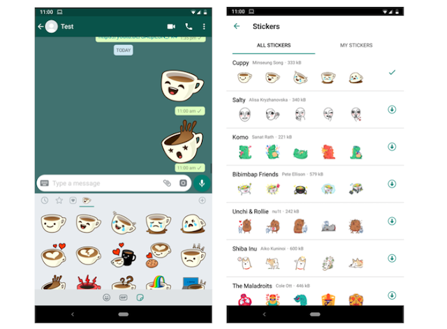 You can now Send Stickers on WhatsApp