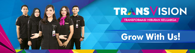 Lowongan Kerja SMA SMK D3 S1 PT. Indonusa Telemedia (Transvision), Jobs: Sales Promotion, Account Manager, Direct Sales, Cluster Manager, Trans VP, Etc.