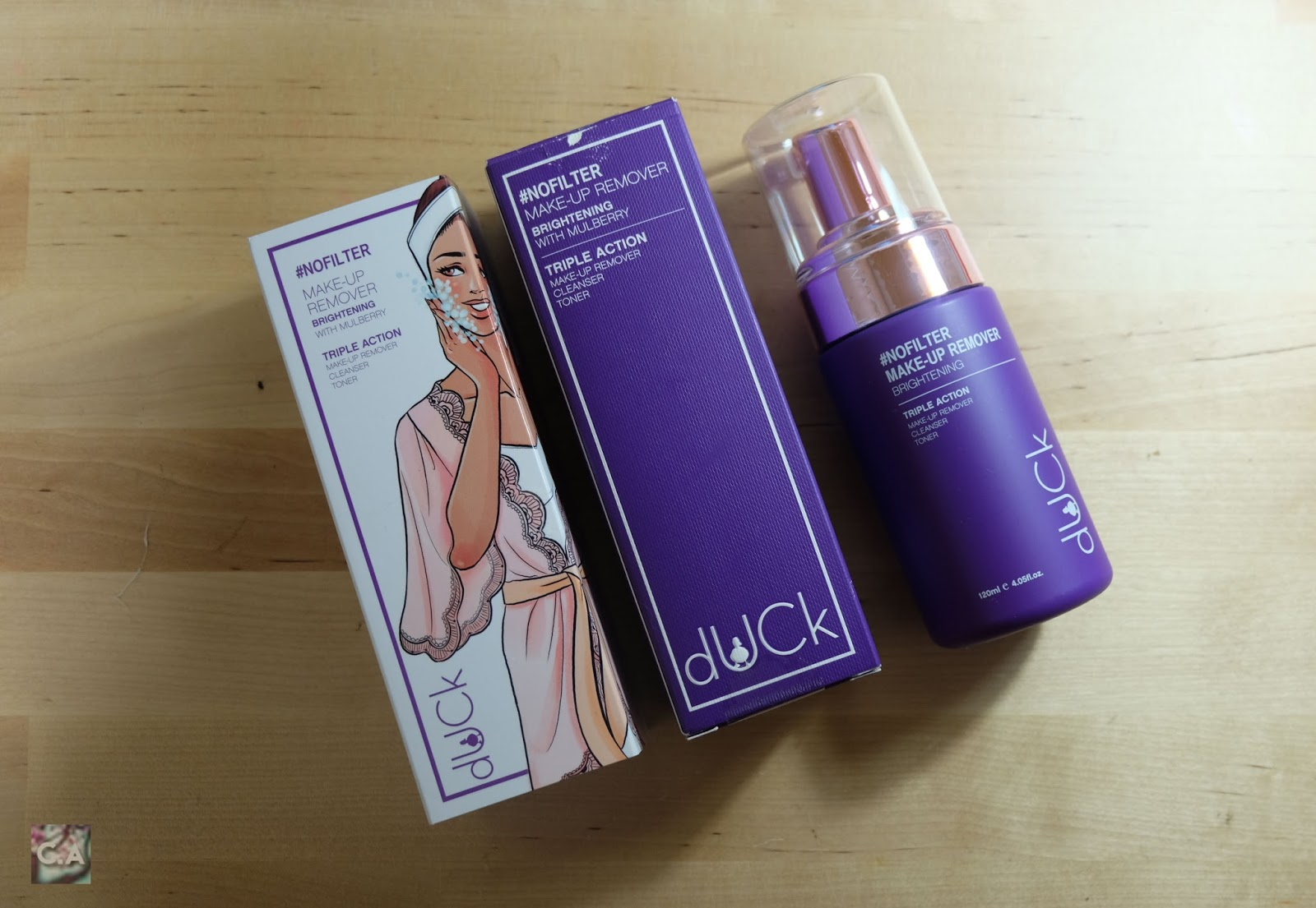 dUck Cosmetics #nofilter Make-up Remover - Brightening Curitan Aqalili