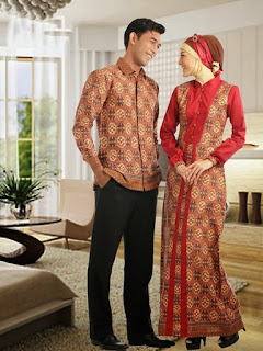 model baju batik pesta sarimbit