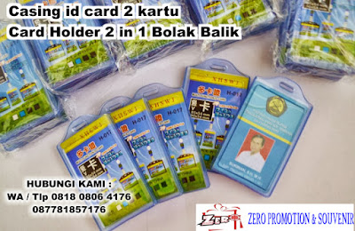 Jual Casing id card 2 kartu - Card Holder 2 in 1 Bolak Balik