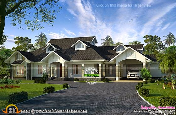Single floor Colonial mix house