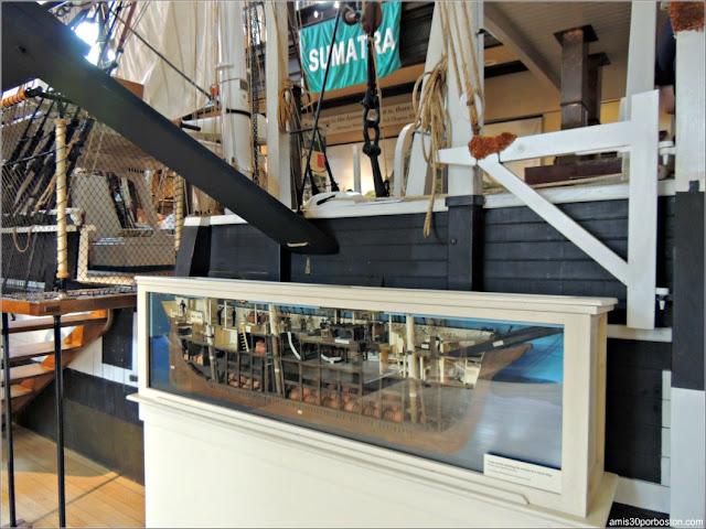 Maqueta Lagoda en el Museo de Ballenas de New Bedford, Massachusetts
