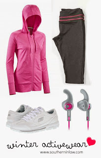 Winter Workout Essentials - Funkita Activewear, Skechers GOwalk Sneakers and Kathmandu Detachable Hood Fleece Jacket