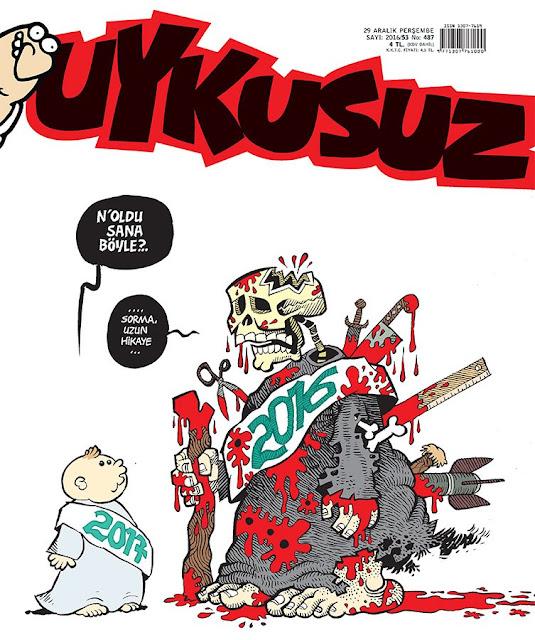 Uykusuz Dergisi | 29 Aralık 2016 Kapak Karikatürü