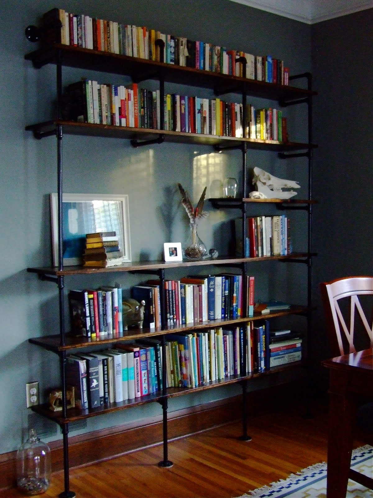 bookshelf pipe plumbing industrial bookshelves pretty feel shelf yet another need wood pipes cooler sure than
