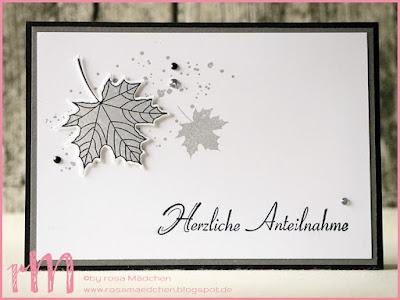 Stampin' Up! rosa Mädchen Kulmbach: Trauerkarten mit Jahr voller Farben und Gorgeous Grunge